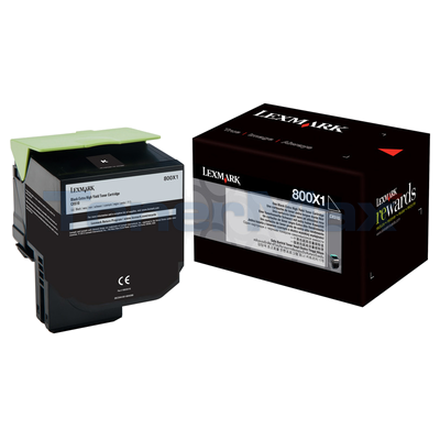 LEXMARK CX510 TONER CARTRIDGE BLACK 8K